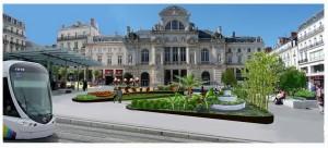 Credit Ville d'Angers - L'esquisse de la place du ralliement végétalisée