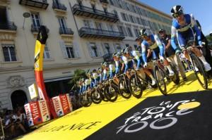 L'équipe Oreca-GreenEdge au départ. © Presse Sport pour ASO