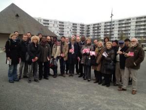 Credit Aimer Angers - Une partie de l'équipe de soutien à Frédéric Béatse cet après-midi dans le quartier de la Roseraie