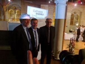 Eric Groud, François Beaupère et Gérard Aubry présentaient hier leurs voeux