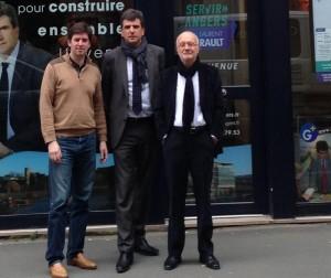 Laurent Gerault et son équipe