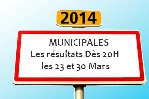 Résultats des élections municipales dès 20h ce dimanche 23 mars 2014