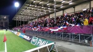 Football Féminin : Qualifications Coupe du Monde 2015 à Angers, le public avait répondu présent.