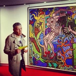 "Geneviève, ""la Femme avec un grand F"" selon l'artiste Robert Combas"