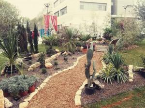 Le  jardin éphémère installé sur le Campus de Belle-Beille.