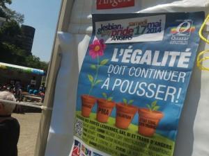 La Gay pride angevine se déroulait cet après-midi à Angers.
