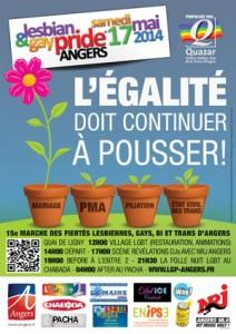 La Lesbian & Gay pride à Angers le Samedi 17 Mai