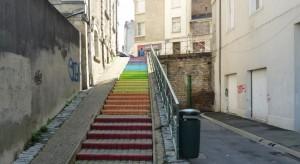 Les marches repeintent par EELV 49 à Angers