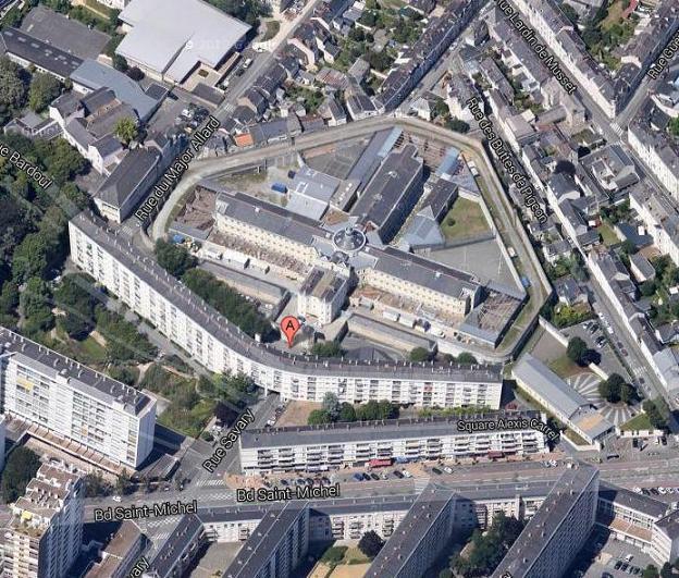 Credit Google Map - Le destin de la prison d'Angers devra encore attendre !
