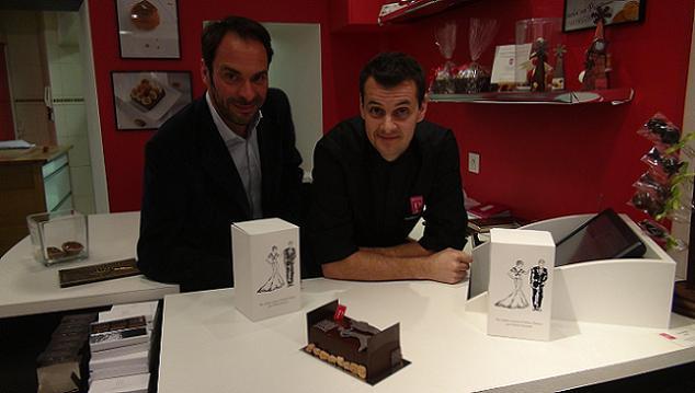 """Aurelien Trottier et Antoine Cosneau inventent un gâteau """"Haute Couture"""" pour la nouvelle année !"""