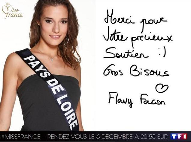 Crédit : LAURENT VU / SIPA / TF1 - Miss France 2015 : Flavy Facon défend les Pays de Loire