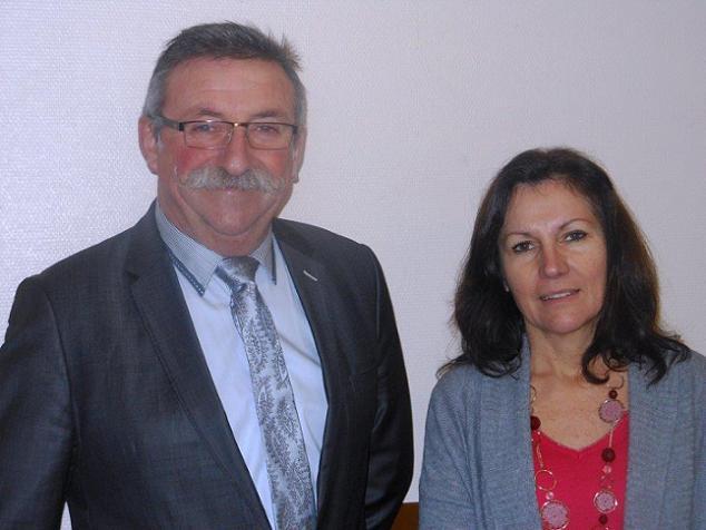DR - Michel Ruault et  Véronique Chouand Koenig, candidats sur le canton N°15 (Longué-Jumelles).