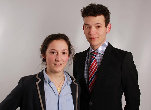 Arthur de Vitton et Agathe Gosset, candidats sur le canton N° 20 (Segré)
