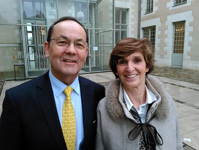 Christian Gillet et Frédérique Drouet d'Aubigny, candidats sur le canton N°1 (Angers).