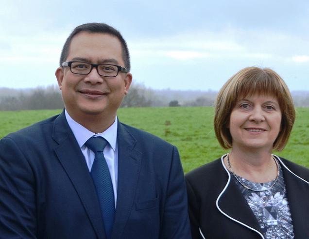 Régine BRICHET et Nooruddine MUHAMMAD, candidats sur le canton N°21 (Tiercé)