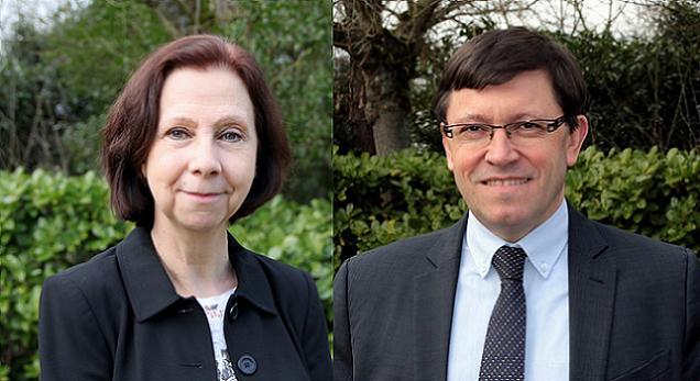 Départementales 2015 - Maine-et-Loire.Marie-Pierre Martin et Philippe.Chalopin, candidats sur le canton N°8 (Beaufort-en-Vallée).
