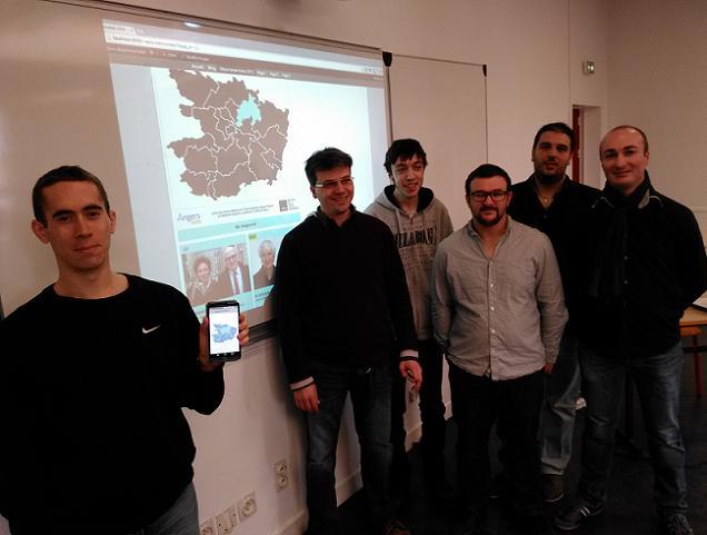 Credit AM- les 6 étudiants de l'IMIE impliqués dans le projet : WEB : Floran DESHAIES, Ronan PAILLARD et Sébastien SIGOIGNE. Mobile : Julien CHOUTEAU, Elie RAVARD et Simon MERILLOT
