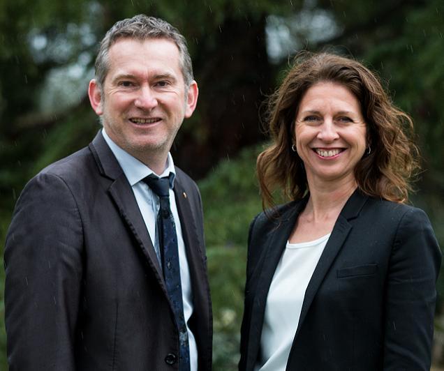 Gilles Groussard et Veronique Maillet, candidats sur le canton N°2 (Angers)