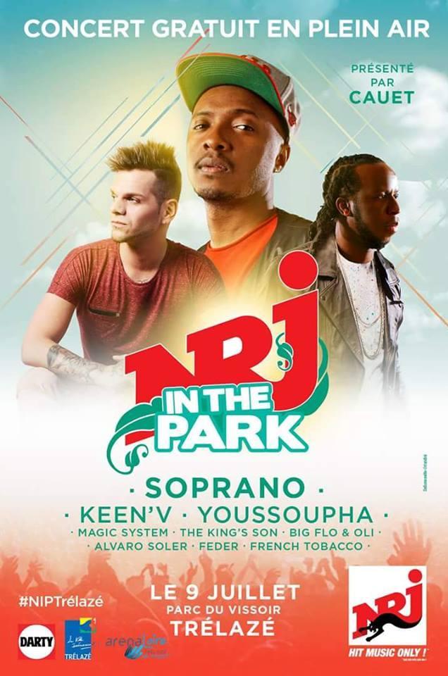 """Le grand concert gratuit """"Nrj In the Park"""" c'est le 9 juillet à Trélazé"""