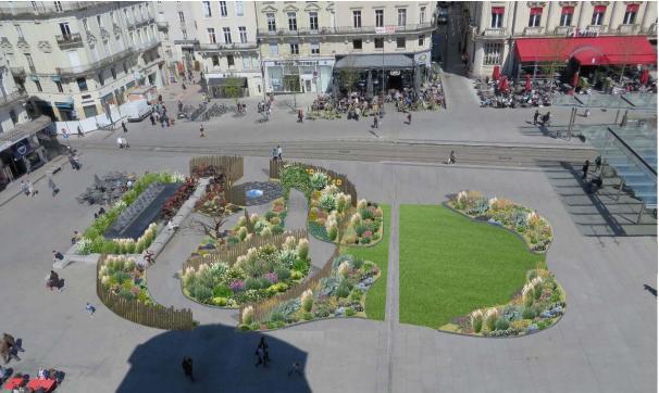 Une « Folie Verte » envahit la place du Ralliement à Angers.