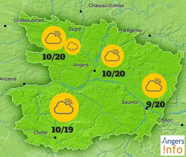 Ciel gris pour tout le Maine-et-Loire ce jeudi 24 septembre 2015.