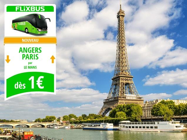 Angers - Paris pour un euro, c'est possible avec Flixbus !