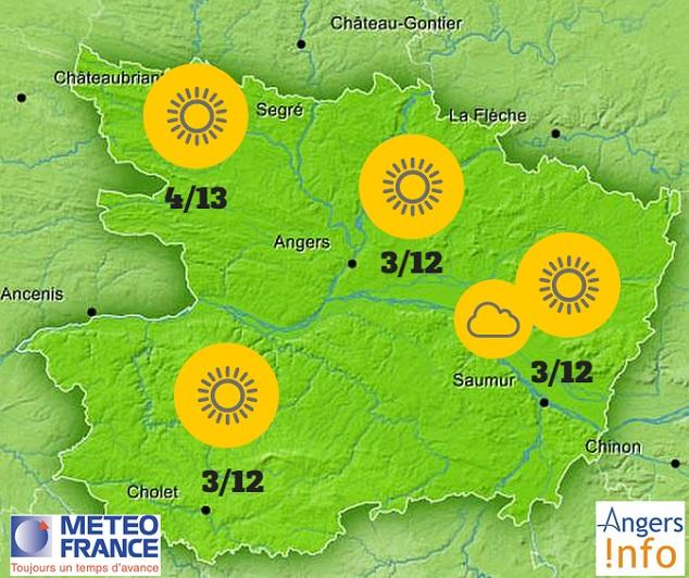 Météo. Soleil et nuages et un peu frais ce mercredi 14 octobre 2015 sur le Maine-et-Loire.