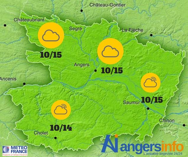 Le temps ne change guère ce mardi 1er décembre sur le Maine-et-Loire.