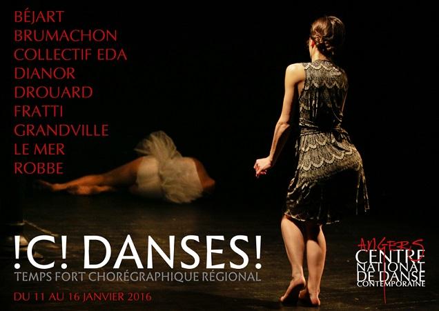 Ici Danse au Quai à Angers et au THV du 11 au 16 janvier 2016.