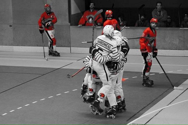Roller Hockey.Difficilement les Hawks d'Angers s'imposent face à Paris XIII . Credit Claire Tounet