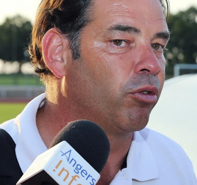 Archive Mario Fournier - Stephane Moulin, l'entraineur d'Angers SCO