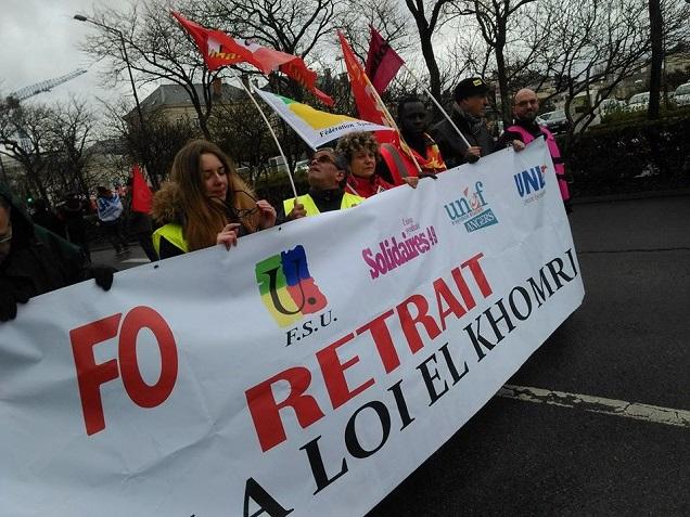 Credit AM - 4800 manifestants étaient présents ce matin contre la loi travail dans les rues d'Angers