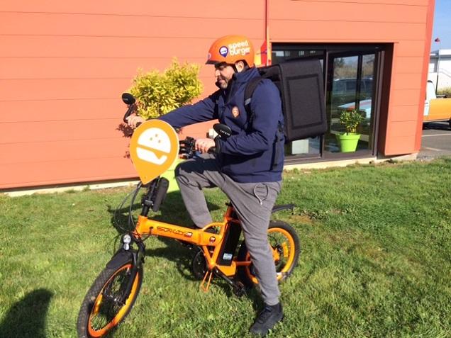 A Angers, Speed Burger va tester la livraison de burgers en vélo électrique