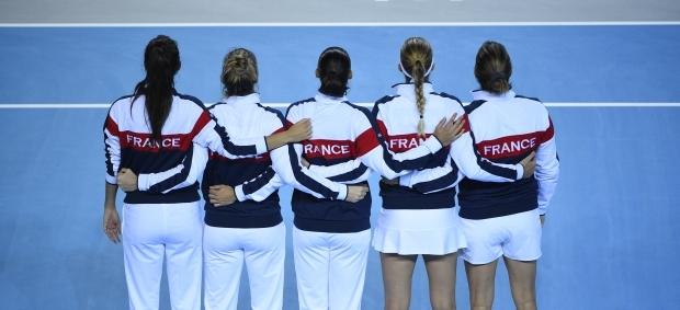 L'équipe de France de Fed Cup jouera sa place en finale à Trélazé (Crédit photo : FFT)