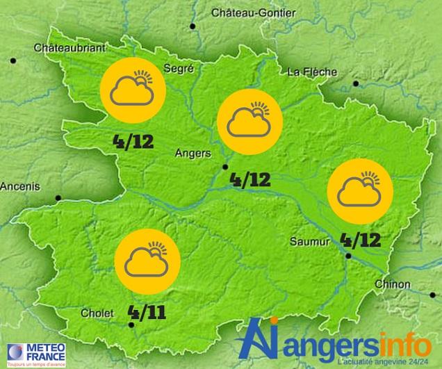 Un régime d'averses en prévision ce dimanche 24 avril 2016 sur le Maine-et-Loire.