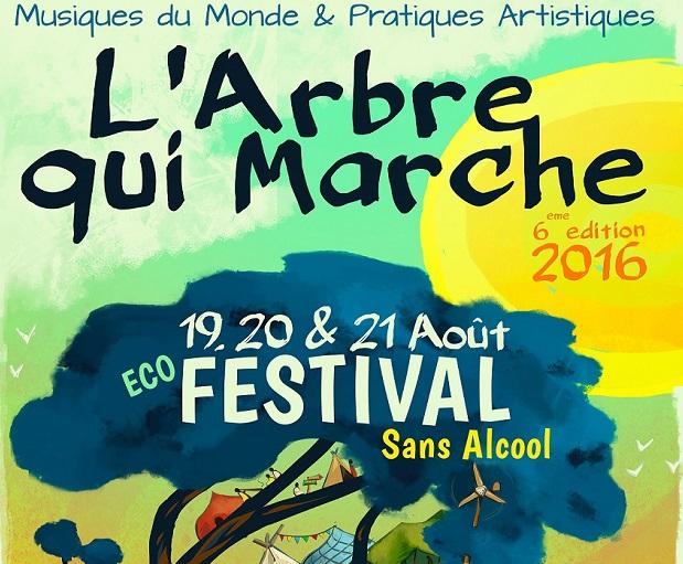 Eco-Festival l'Arbre qui Marche à Vergonnes le 19,20 & 21 Août 2016