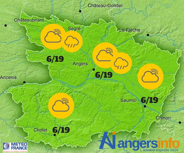 Encore un peu frais ce mardi 24 mai 2016 sur le Maine-et-Loire.
