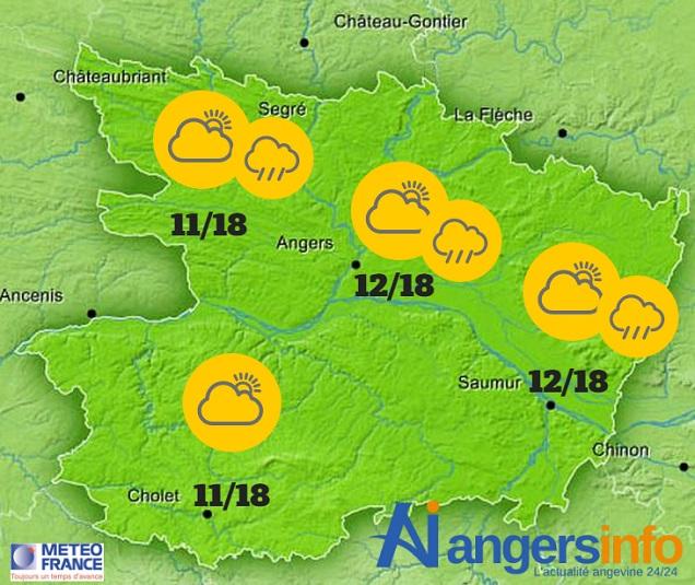 Pluie et vent ce mardi 31 mai 2016 sur le Maine-et-Loire.