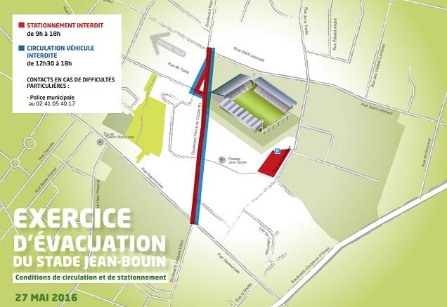 Des restrictions de circulation et de stationnement s'appliqueront aux abords du stade pendant l'exercice.