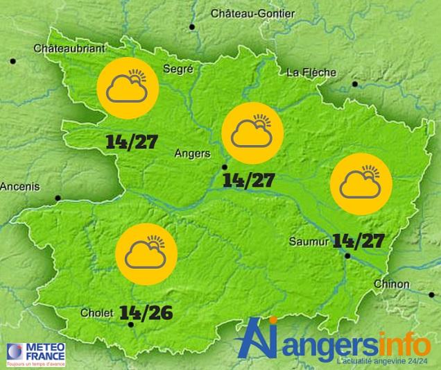 Tendance orageuse ce mardi 7 juin 2016 sur le Maine-et-Loire.