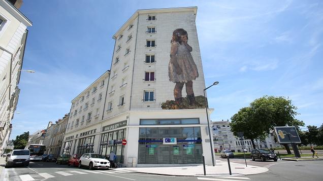 DR - Le musée des Beaux-Arts s'invite sur les murs d'Angers.