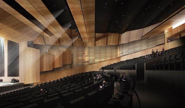 La vue de l'auditorium du Centre des congrès après sa rénovation
