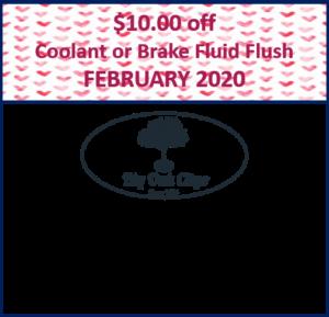 2020.02 – $10 off Coolant or Brake Fluid Flush