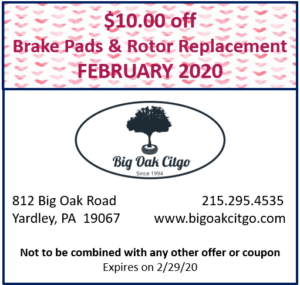 2020.02 – $10 off Pads and Rotors
