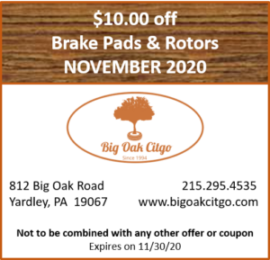2020.11 – $10 off Brake Pads & Rotors