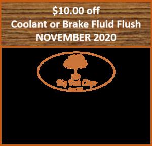 2020.11 – $10 off Coolant or Brake Fluid Change