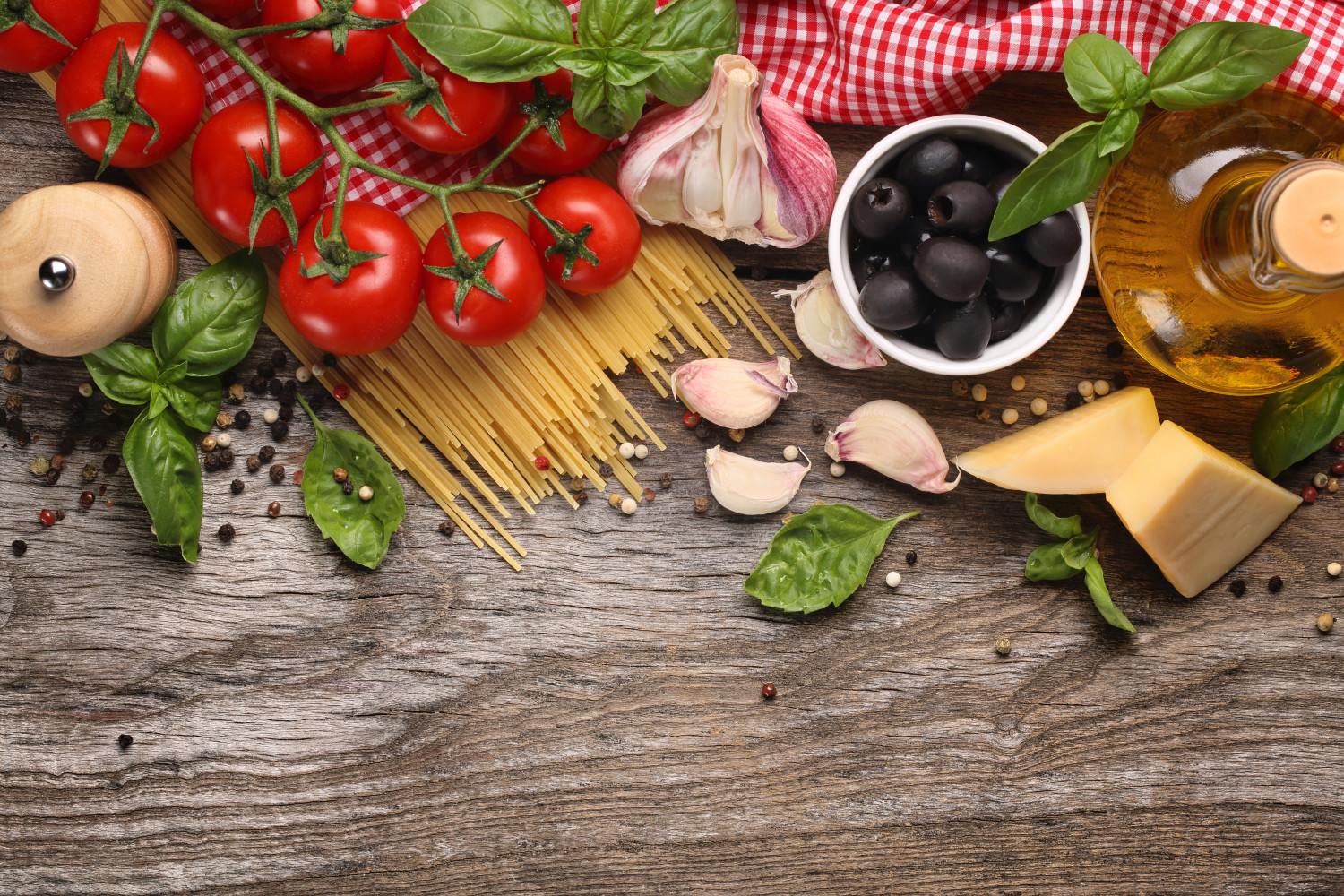 Vegetables,herbs and spices for pasta