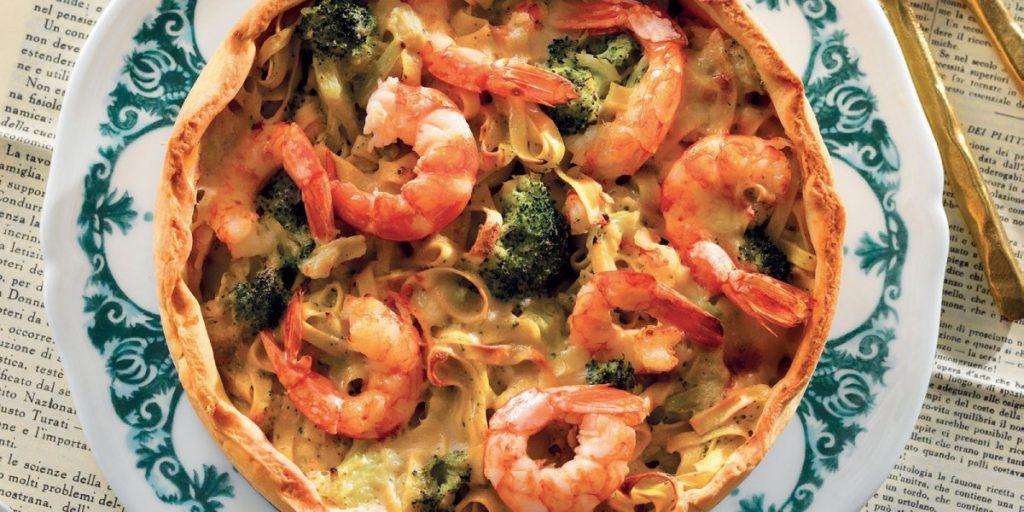 tagliatelle-pasta-cake-with-shrimp