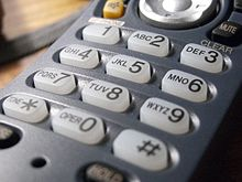 Telephone Key-Pad Showing Numbers 0 to 9