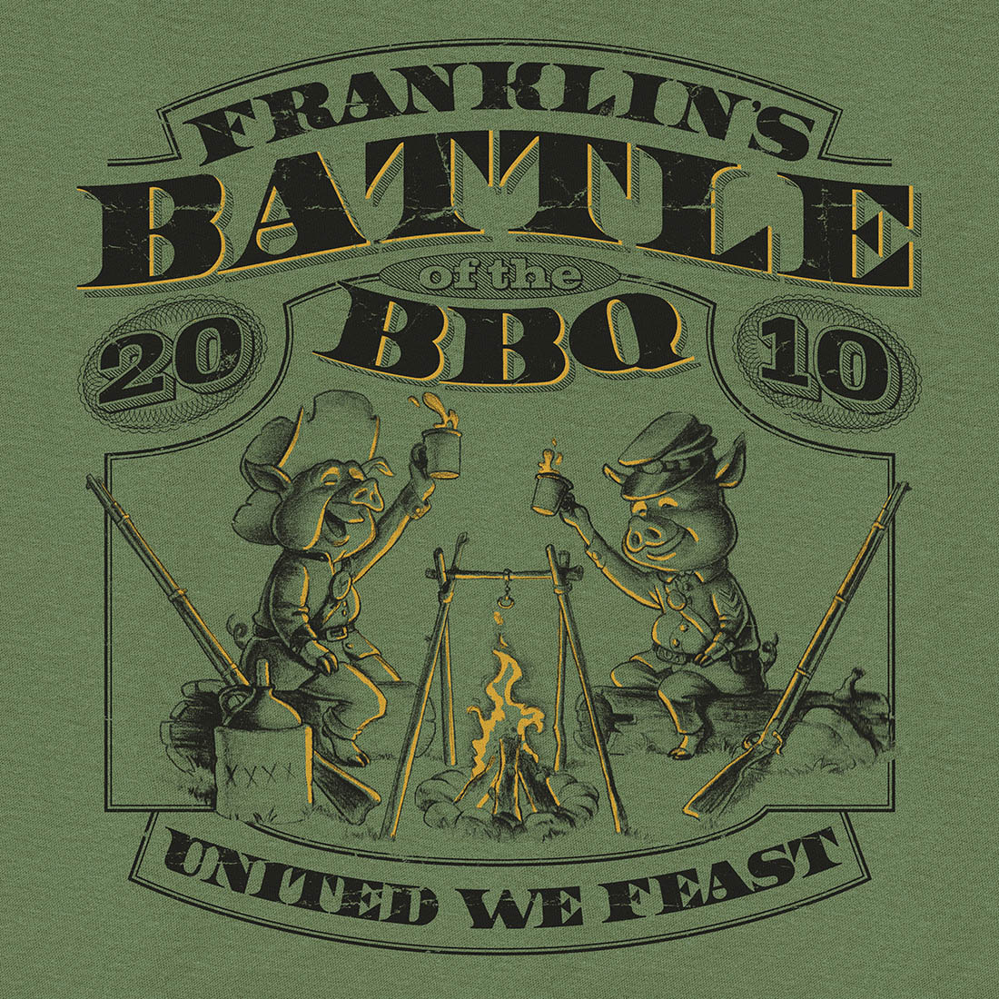 T-Shirt – City Of Franklin – Battle Of The BBQ